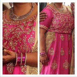 Pink & Gold Indian lehenga - Size 42